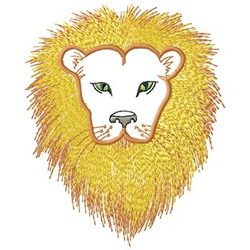 Lion embroidery design