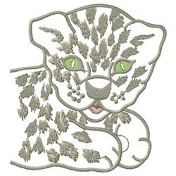 Leopard Cub embroidery design