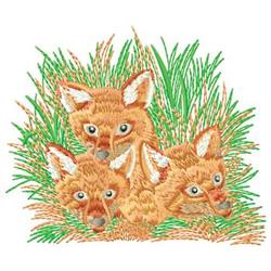 Fox Kit embroidery design