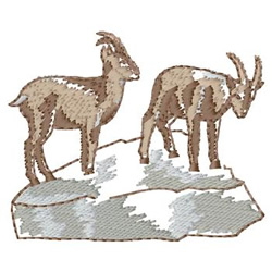 Mountain Goat embroidery design