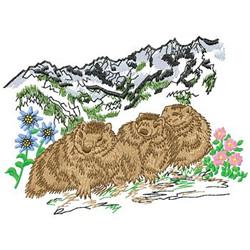 Woodchucks embroidery design