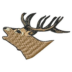 Elk Head embroidery design