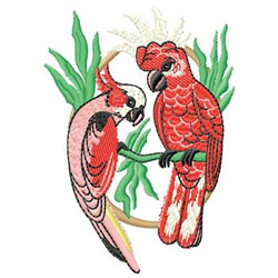 Tropical Birds embroidery design
