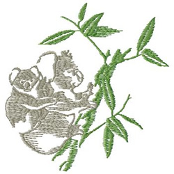 Koalas embroidery design