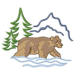 Bear embroidery design