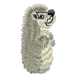 Hedgehog embroidery design