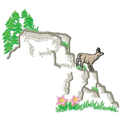 Mountain Goat embroidery design
