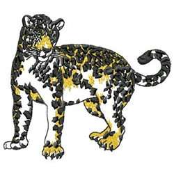 Leopard embroidery design