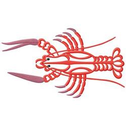 Crawfish embroidery design