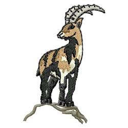 Ibex embroidery design