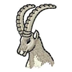 Mountain Goat Head embroidery design