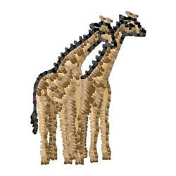 Giraffes embroidery design
