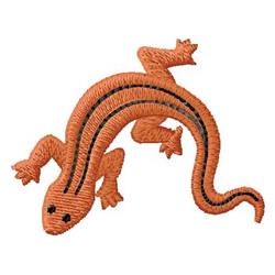 Salamander embroidery design