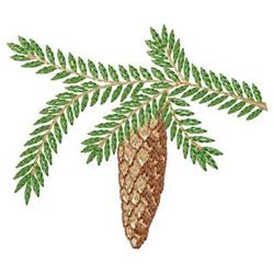 Pine Cone  Branch embroidery design