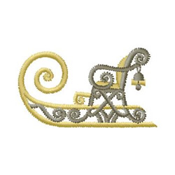 Old Time Sleigh embroidery design