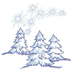 Trees And Stars embroidery design