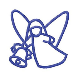 Holiday Angel embroidery design