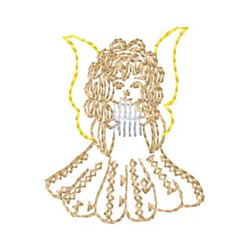 Pan Flute Angel embroidery design