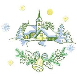 Church Scene embroidery design