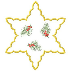 Star With Branches embroidery design