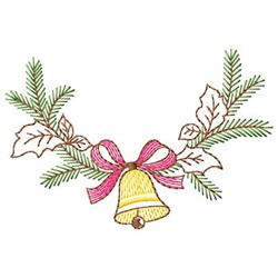 Bell Swag embroidery design