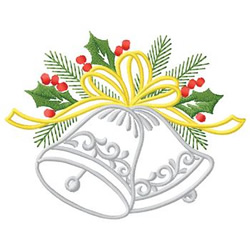 Bells With Holly embroidery design