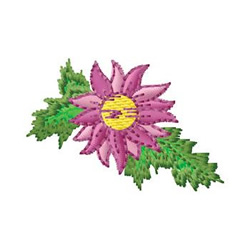 Poinsettia And Pine embroidery design