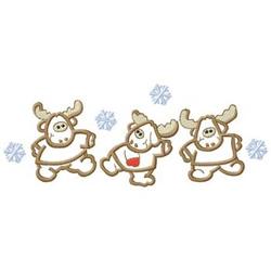 Dancing Moose embroidery design