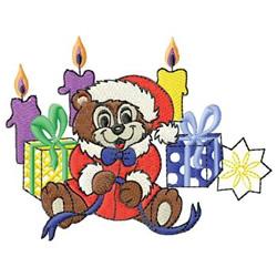 Santa Bear embroidery design