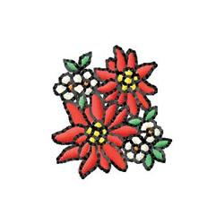 Poinsettias embroidery design