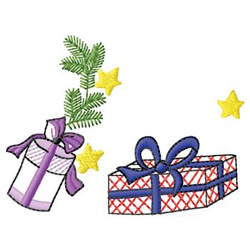 Christmas Packages embroidery design