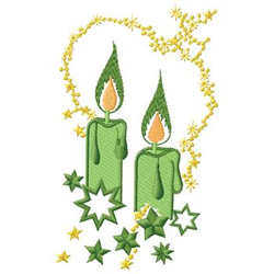 Candles embroidery design