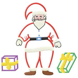 Santa With Gifts embroidery design