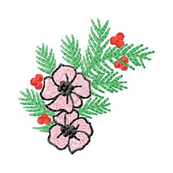 Flowers With Holly embroidery design