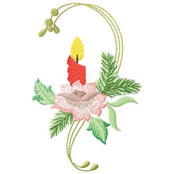Candle Swag embroidery design