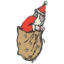 Santa In Sack embroidery design