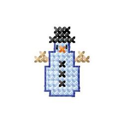 Cross Stitch Snowman embroidery design