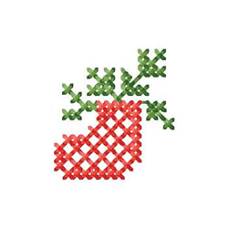 Cross Stitch Stocking embroidery design