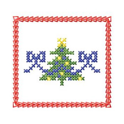 Cross Stitch Tree embroidery design