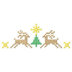 Cross Stitch Reindeer embroidery design