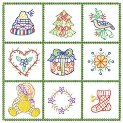 Christmas Squares embroidery design