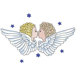 Two Angels embroidery design