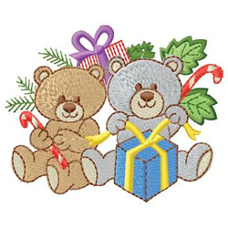 Bears With Gifts embroidery design