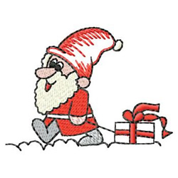 Santa With Package embroidery design
