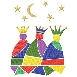 Three Kings embroidery design