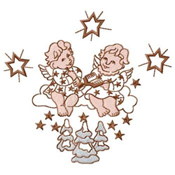 Angels With Stars embroidery design
