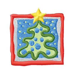 Christmas Tree Square embroidery design