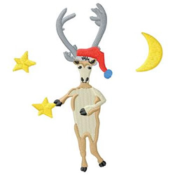 Deer Dancing embroidery design