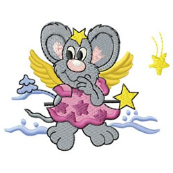 Mouse Angel embroidery design