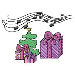 Packages With Music embroidery design